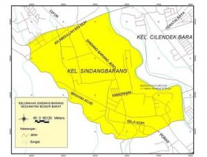 Peta Kecamatan Bogor Barat